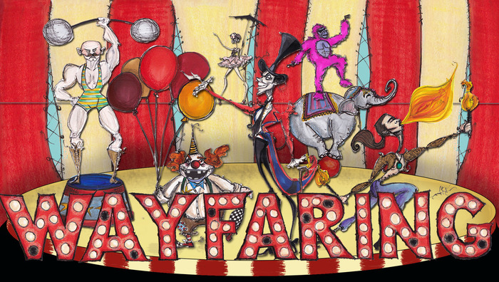 Wayfaring 'Traveling Circus' concept art from Dior Fashion Illustrator Jamie Lee Reardin -- 17x11 limited edition prints signed by Malcolm available at $100