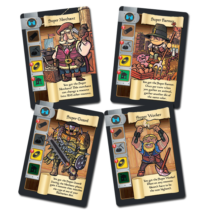 Some of the non-retail cards included in the Kickstarter campaign