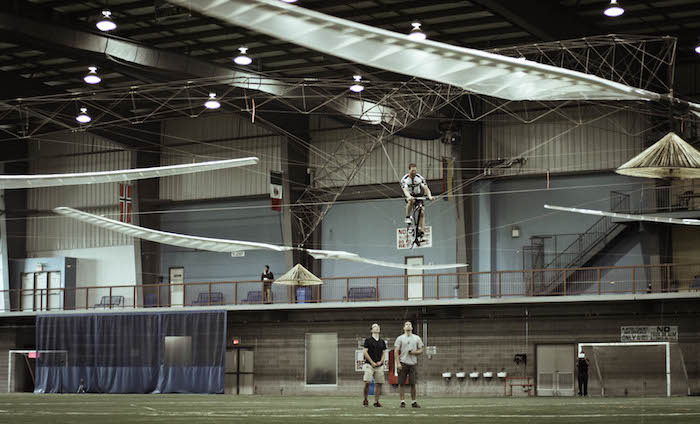 The Atlas human-powered helicopter, the World's most efficient helicopter.