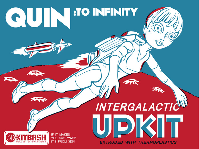 Backers at the 'To Infinity' and beyond, will receive (among other cosmic items) a Rocket Pack for Quin! - Pictured is not the final design.