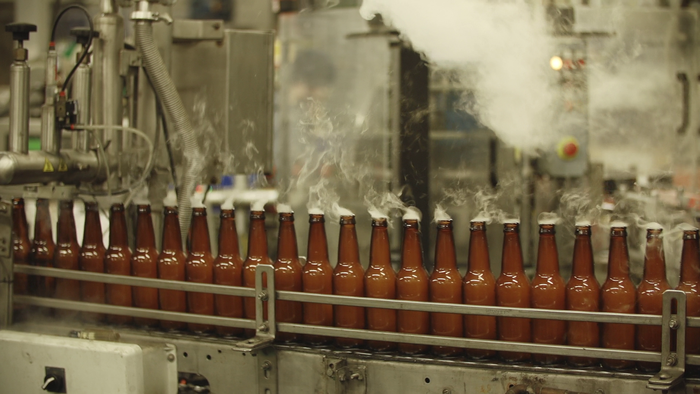 The Smuttynose bottling line.