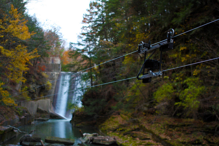Cable Dolly Running Through a Gorge