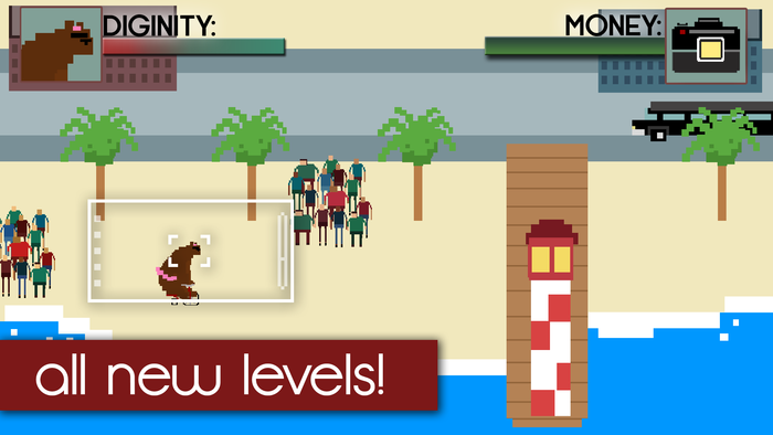 A mockup of the beach front level.