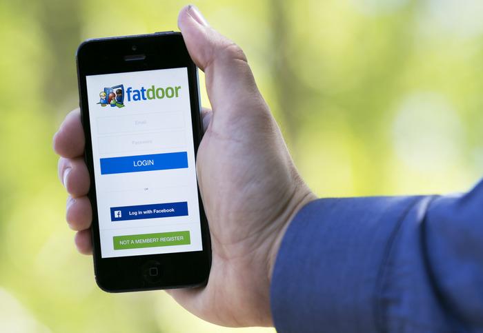 Home screen of Fatdoor app