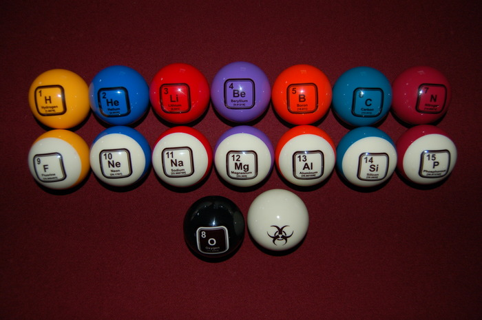 The colors are bright and the images are imbedded into each ball on both sides for easy identification.
