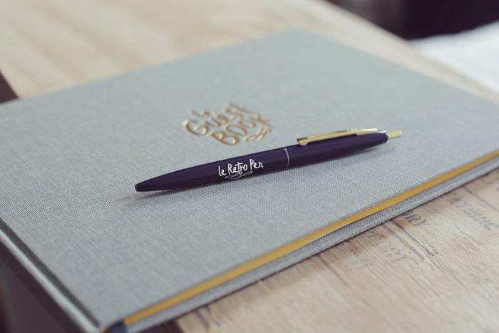 Le Guest Book and its best friend: Le Retro Pen