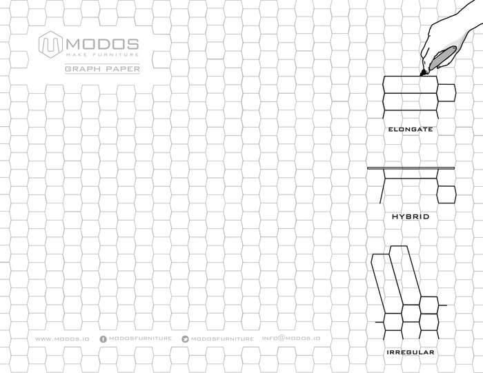 Modos Graph Paper, click to download. Quickly draw your custom DIY shelf.