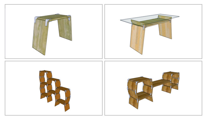 Modos 3D Models in Google Sketchup. Plan and create your DIY furniture in 3D.