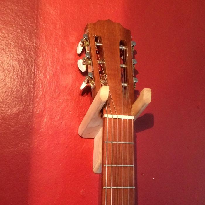 Fancy, sturdy handmade instrument hanger designed by Sean.