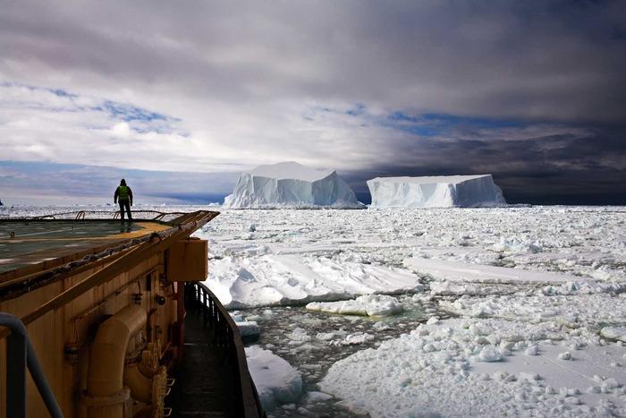 Looking at the Icebergs Near Franklin Island, Ross Sea Antarctica 2006