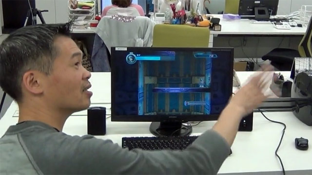 Inafune uses robust gestures to convey his image of Beck's underwater movements.