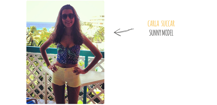 Carla is actually Jordan's sister. Having the chance to live in the Guadeloue, French West Indies, she could record a video of her on the beach for us. Lucky you!