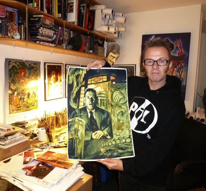 Project illustrator Graham Humphreys