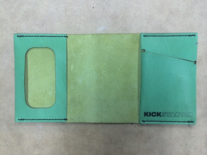 The first production Limited Edition Kickstarter-Green Wrap Wallet