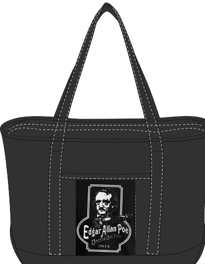 A sturdy, black book bag for all your Poe swag!