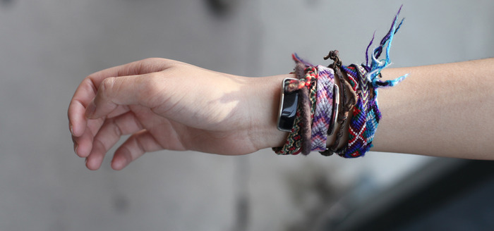 Of course you could also wear it with any bracelet
