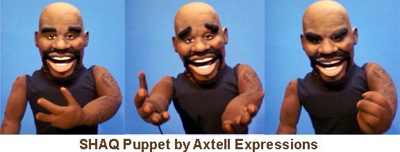 Shaq caricature puppet built by them