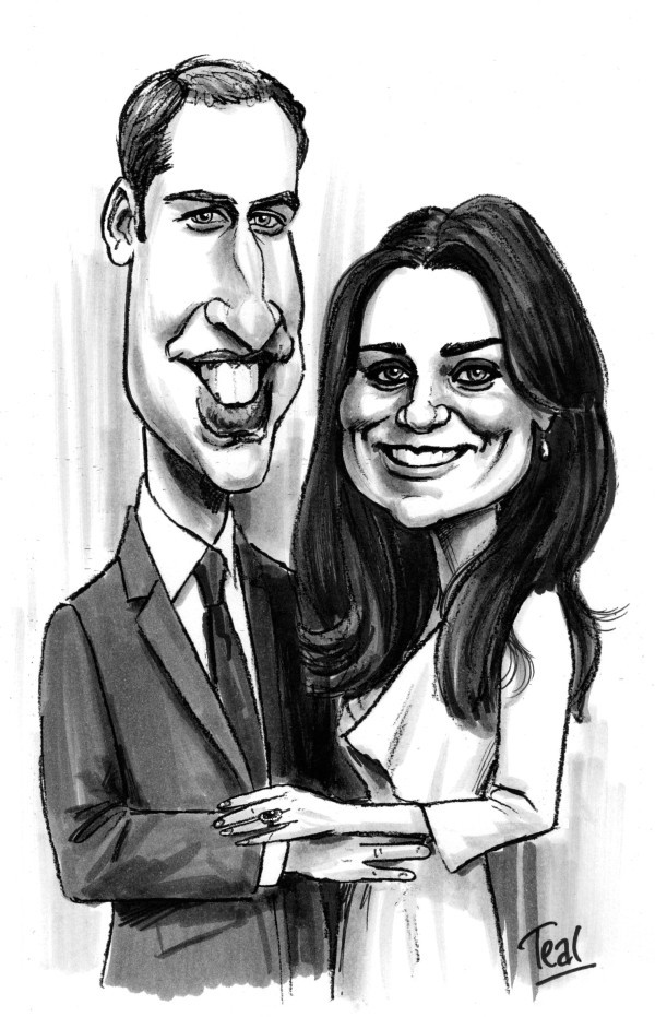 Example of Adrian Teal's work: Wills and Kate