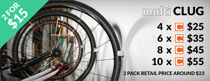 Want 1 for each wheel? Have a few bikes? We've got you covered with sweet deals on sets of 2. Starting at 2 for $15. Then it's $10  for each pair after that. (No more than 10 though please, house rules)