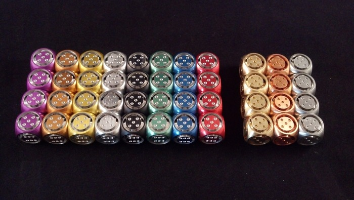 Anodized Colors, Brass, Copper, and Stainless Steel
