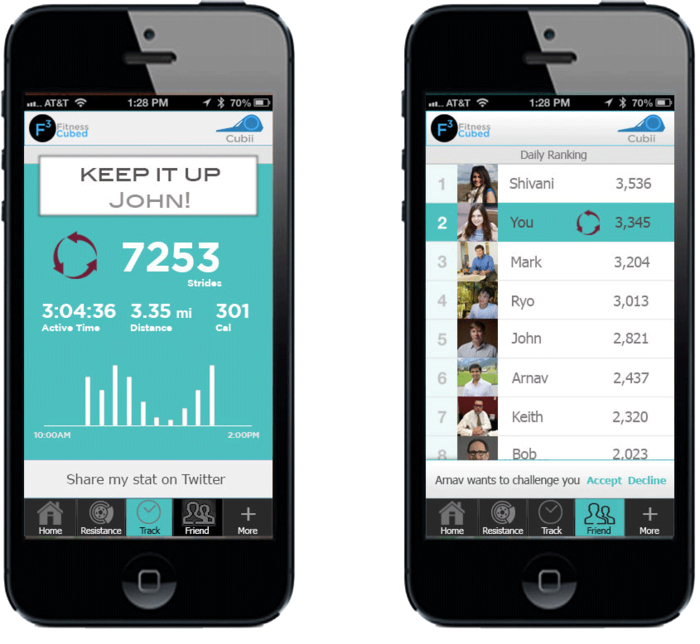 Bluetooth integration lets you keep track of your activity via our mobile app