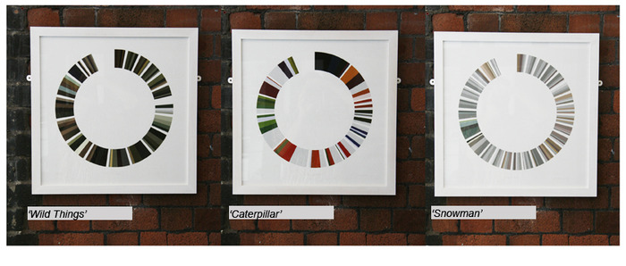 3 x 50cm by 50cm Colourstory prints (framed)