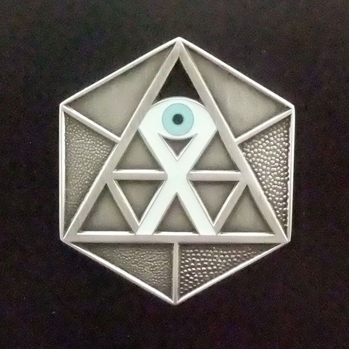 Temple of Whollyness glow-in-the-dark medallion