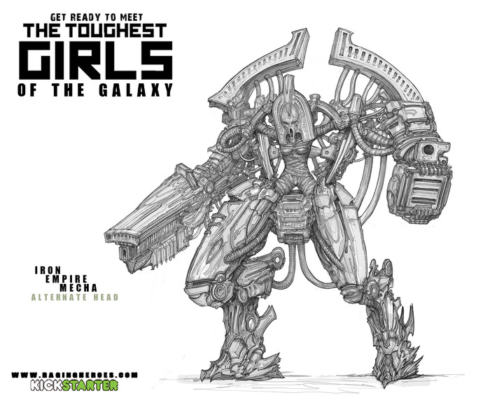 Final version of the IE Mecha concept, the one we used for sculpting.