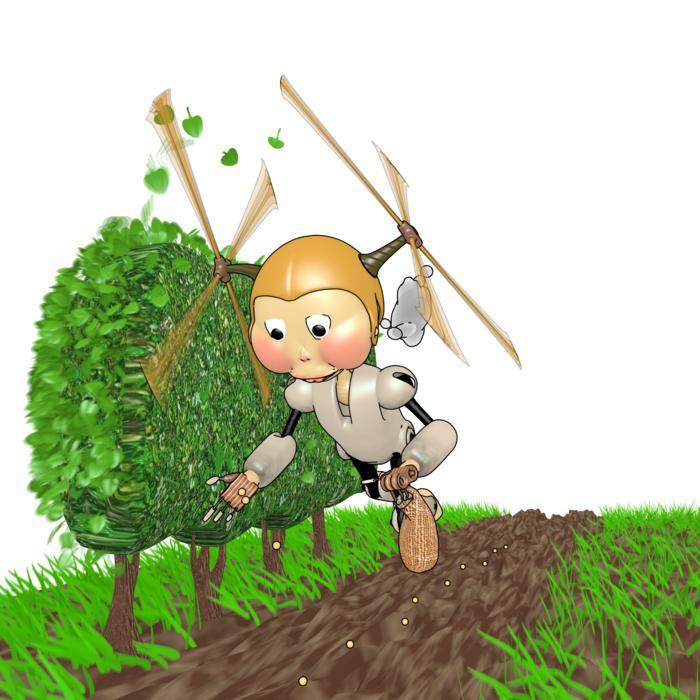Stinky Robot - Lua. Doing some gardening