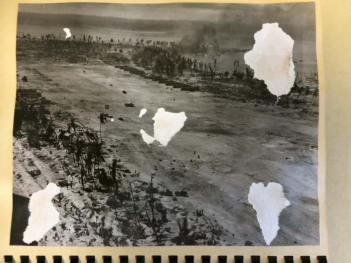 Example of damage on some of the photos in the collection.