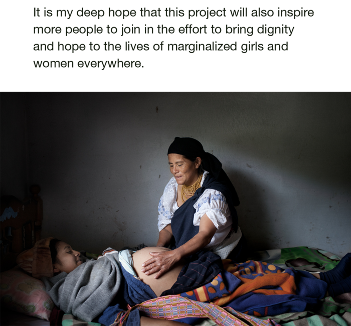 Midwife and expectant mother in Otavalo, Ecuador