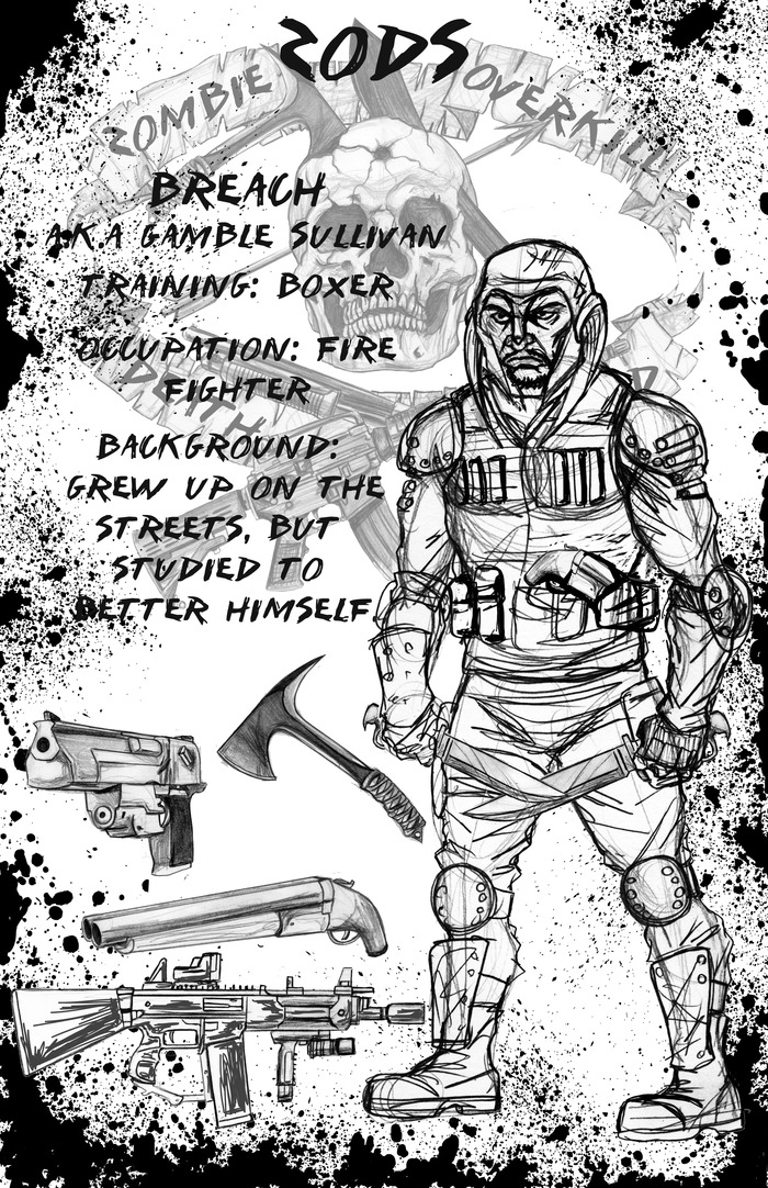 BREACH CHARACTER PAGE - POINT MAN - BREACH FAVORS THE DOUBLE BLADED BRASS KNUCKLES.