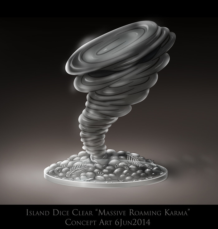 Massive Roaming Karma current concept art for sculpted/molded game piece
