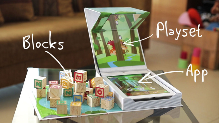 The playset also stores the blocks after you play!