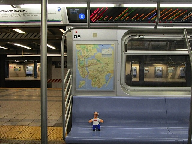 """Our Man"" Riding the Rails (in NYC by Gary Dumaier)"