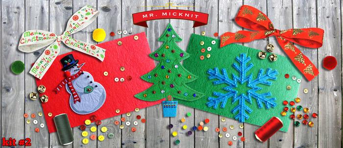 Kit 2 - DIY MR. MICKNIT STICK-ON HOLIDAY PATCH KIT ($29 PLEDGE)