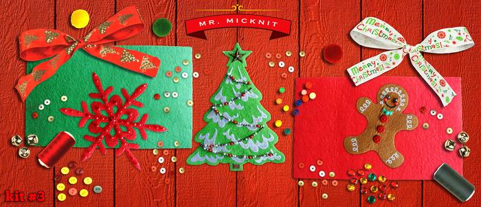 Kit 3 - DIY MR. MICKNIT STICK-ON HOLIDAY PATCH KIT ($29 PLEDGE)