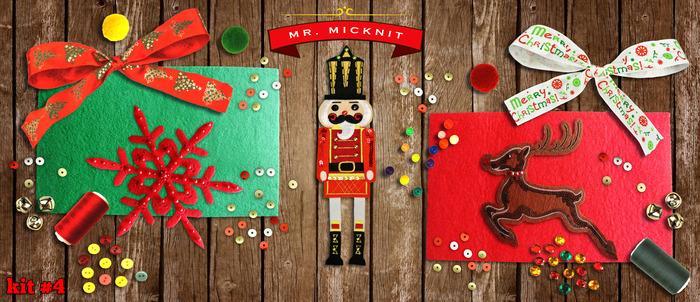 Kit 4 - DIY MR. MICKNIT STICK-ON HOLIDAY PATCH KIT ($29 PLEDGE)