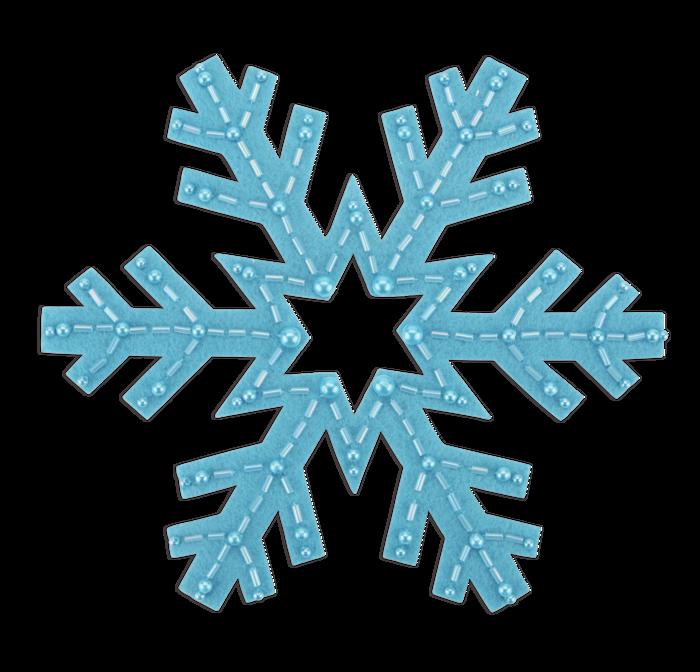 TRUE BLUE SNOWFLAKE - 7 inches wide- STICK-ON FELT PATCH ($12 PLEDGE - INCLUDES BONUS G MAN PATCH)
