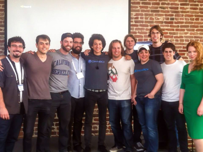 Conor and participants of the Brainihack Neurogaming Hackathon who worked w/ OpenBCI