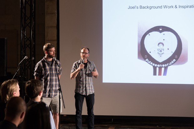 """Joel and Conor presenting about OpenBCI at the Van Alen Institute meetup, """"How Does The Brain Respond To The City?"""""""