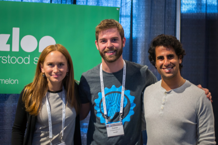 Conor and our friends, Arye and Laura of Melon, hanging out together at the Neurogaming Conference