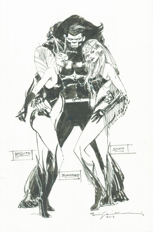 Bill Sienkiewicz - 1st contributed pin-up