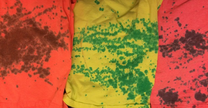 Examples (prototypes) of color-to-color dying (as opposed to just white-to-color).