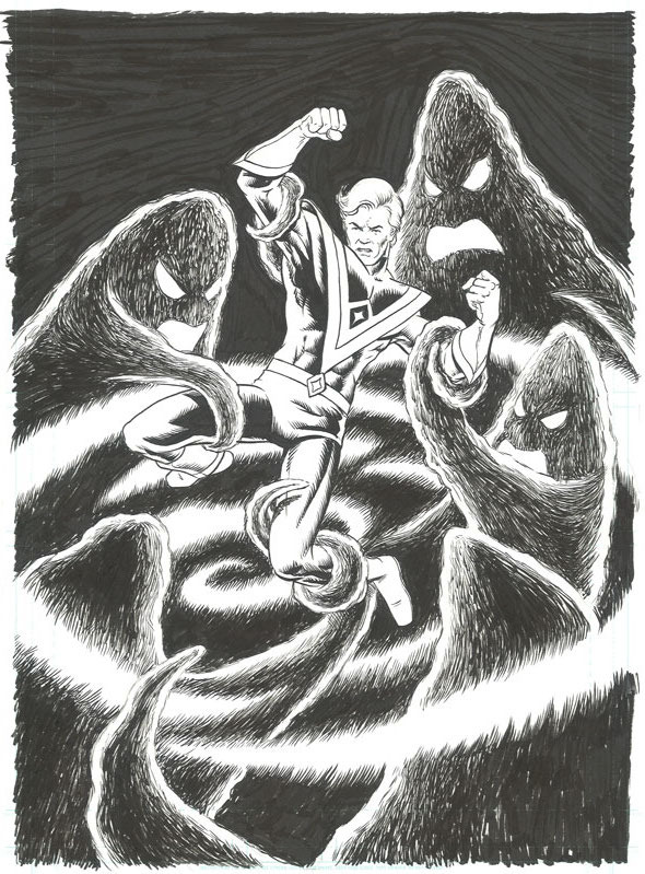 Original cover to David Miller's Avatar #3 by Steve Conley