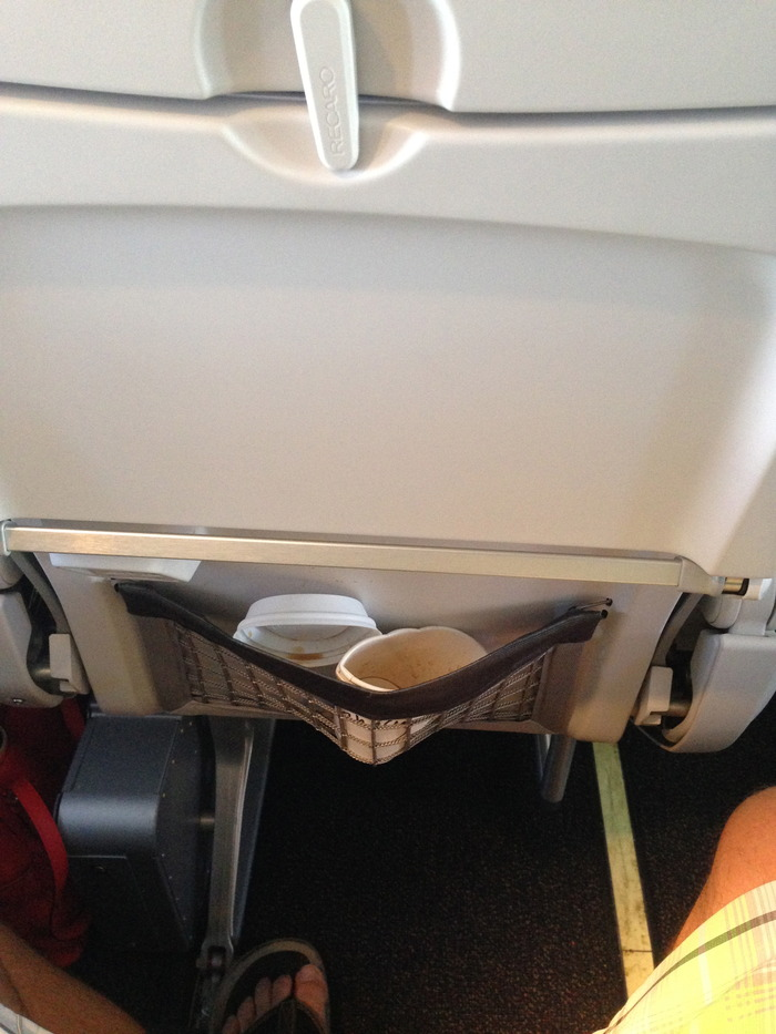 New seat pockets are small and even less able to hold a drink cup.