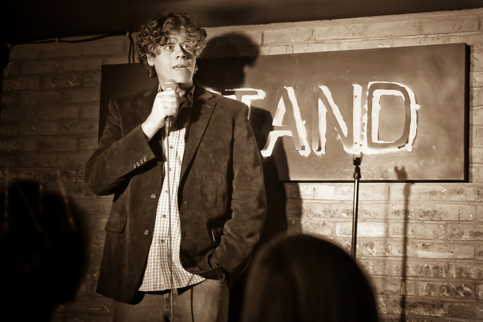 Performing standup at The Stand in NYC