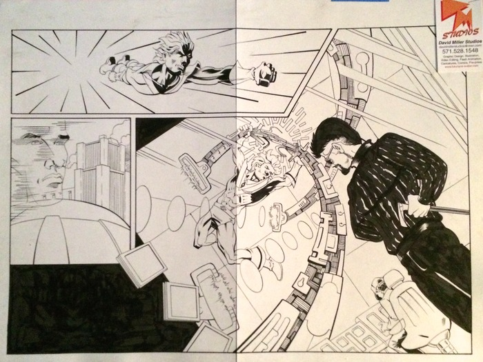 Double-pg spread from David Miller's Avatar series
