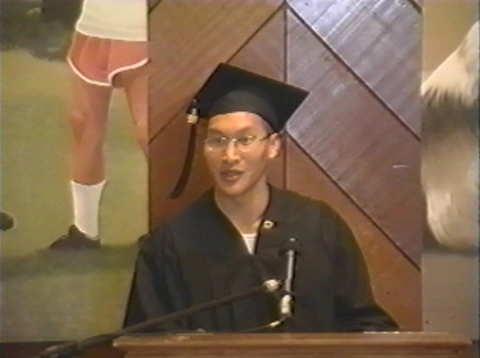 Eddy graduating from college at San Quentin, 2000