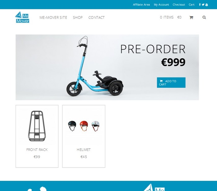 Webshop development in progress